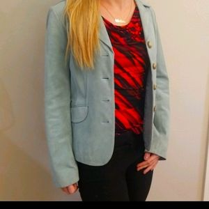 Ann Taylor Suede Blazer Size 4 NWOT